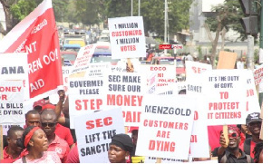 Menzgold  customers on rampage