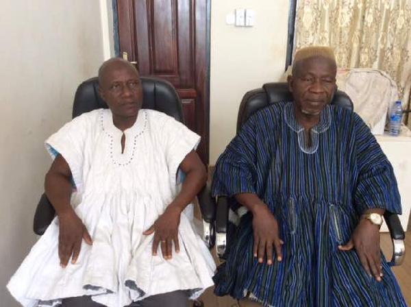 Alhaji Anass, National Chairman of Andani Youth Ass. and Alhaji Mugisu, Abudu Youth Ass. president