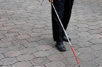 The white cane is a tool used by the visually impaired