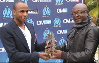 Dede Ayew with his father, Abedi Ayew Pele