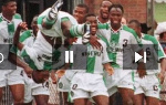 Nigeria became the first African team to win Olympic gold in  1996