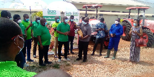 ADB Board and Management handed over two tractors to the Ekumfi Juice Factory