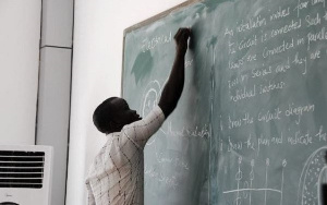 A file photo of a teacher in the classroom