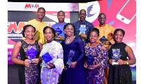 Representatives of MTN Ghana with the awards