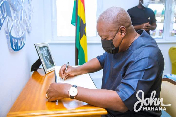 Mahama signs book of condolence in honour of Prince Philip