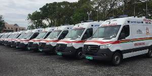 The ambulance will be delivered to the constituencies from January 2020
