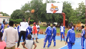 File photo: Some SHS students playing basketball