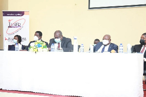 Panelists at the ISSER dialogue