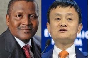 Aliko Dangote and Jack Ma