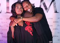 Rapper, Edem with wife