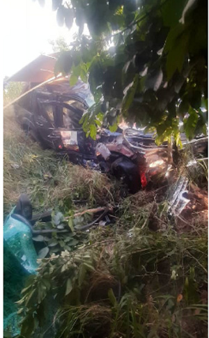 The accident occured on the Somanya-Accra Highway