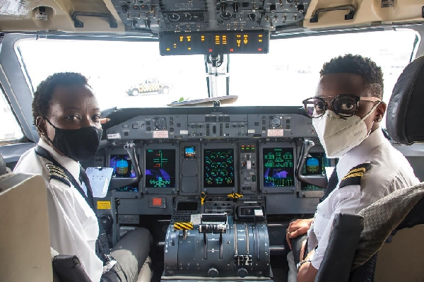 All-female crew fly plane from Accra-Tamale