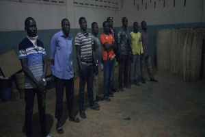 The suspects include two Ghanaians