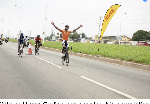 Victor Cudjoe out-sprinted his competition  to win the Granfondo Ghana Cycle Race