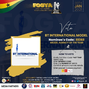 BT International Modeling Agency has been nominated in the Model Agency of the Year category
