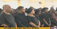 Family of Major Mhama at the memorial service