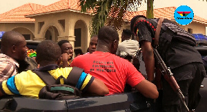 90 Menzgold customers were arrested for unlawfully massing up at NAM1's private residence