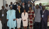 Madam Patricia Appiagyei in a group photo with some participants
