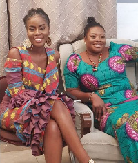 MzVee captured in a picture with her  mum