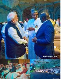 Prime Minister Modi, President Buhari and Vice President Bawumia