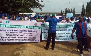 The Nigerian Union of Traders Association Ghana (NUTAG) members