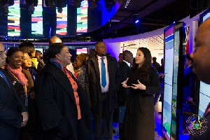 First Lady Rebecca Akufo-Addo interacting with some Chinese officials