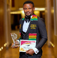 Dr. Mark Agyei with the Most Outstanding CEO award