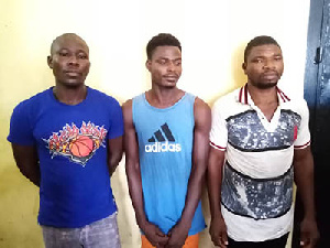 Three of the five brothers who allegedly crossed into Ghana