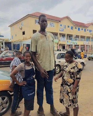 Charles Sogli is reputed to be the tallest man in Volta Region