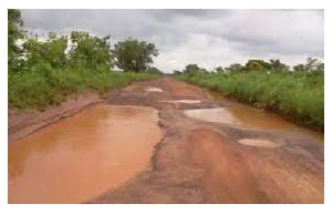 File photo of a bad road