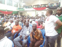 Anxious delegates at the Wa Central Constituency election