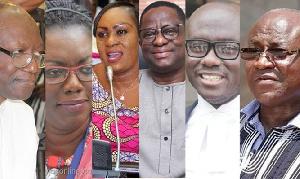 Ken Ofori Atta, Ursula Owusu, Hawa Koomson, John Peter Amewu, Godfred Dame and Kyei-Mensah Bonsu
