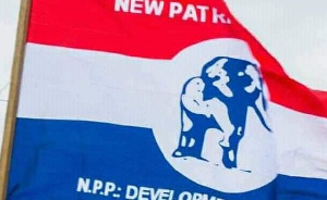 The New Patriotic Party(NPP) flag