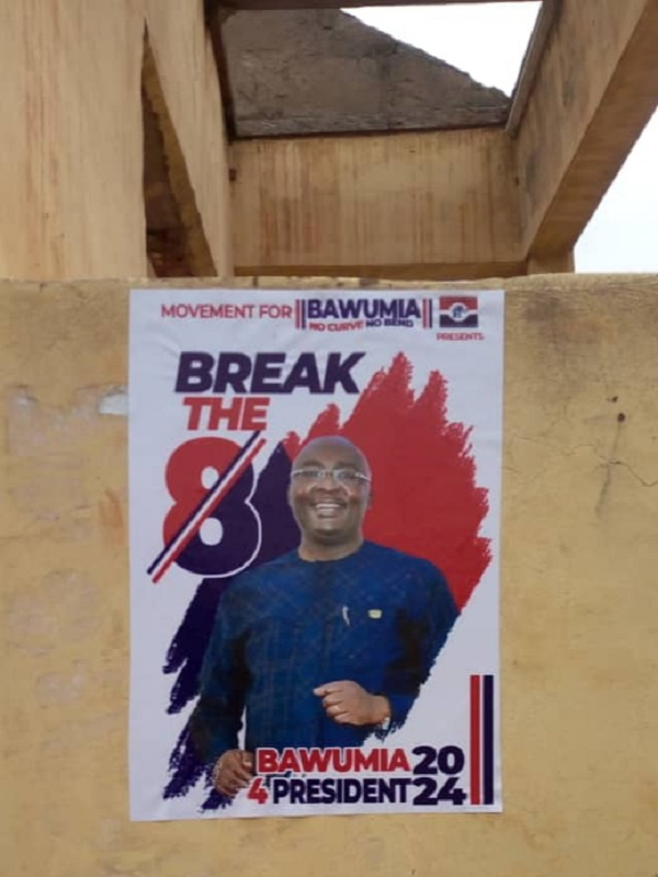 Bawumia's posters have been spotted in some parts of the country