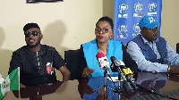 2Face Idibia and official of UNHCR