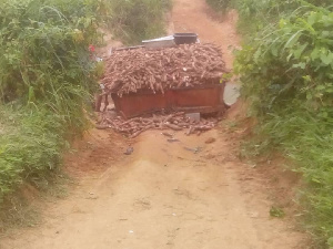 Tractor driver Acheampong Krakye was trapped to death
