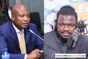 Samuel Okudzeto Ablakwa (L) and Prince-Kamal Gumah (R)