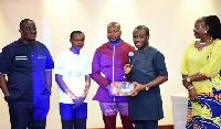 Felix Ofosu Kwakye with some members of the Africa Mobile and ICT Expo (Mobex)