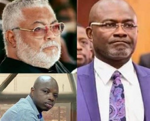 Former President Jerry John Rawlings, Abronye DC and Mr Kennedy Agyapong