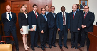 Dr. Mahamudu Bawumia with the Brazilian business delegation.