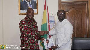 Minister of Youth and Sports, Isaac Kwame Asiamah & GFA President,Kurt E.S Okraku