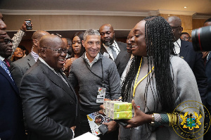 Chris Hughton and Nana Akufo-Addo