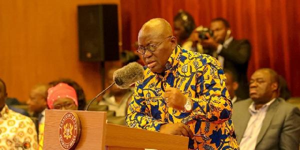 President Akufo-Addo called the reference to his person as 'sakawa' disturbing