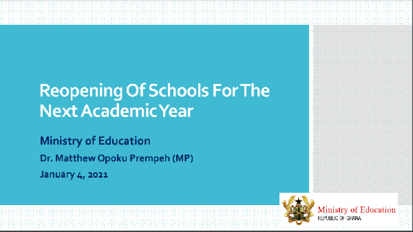 FULL TEXT: 2021 approved Academic Calendar from Kindergarten to SHS