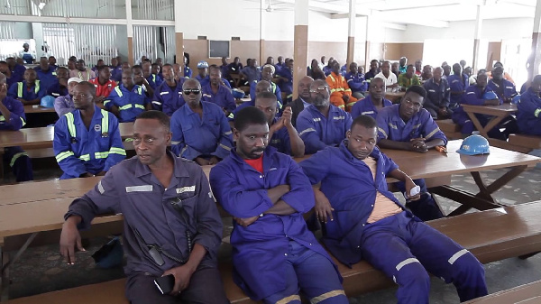 A cross-section of the workers of Tema Shipyard