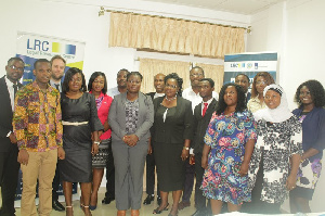 Some members of GIMPA at human rights in business training
