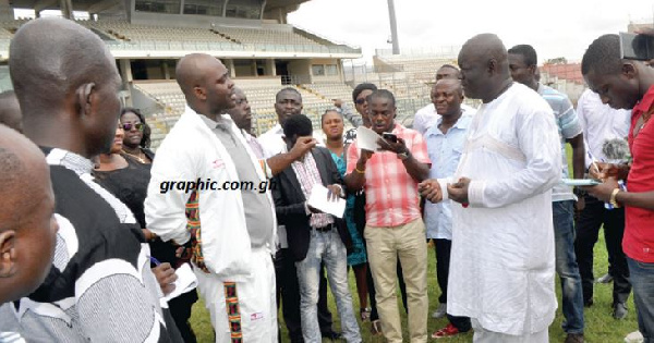 The Sports Minister was on tour to inspect  the facilities in Ghana