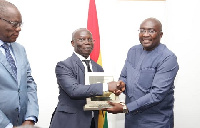 Vice President Dr Mahamudu Bawumia receiving the award on behalf of the President