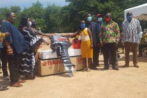 Fishermen in Western Region receive subsidised outboard motors
