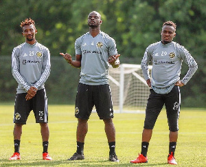 From left: (Harrison Afful, Jonathan Mensah and David Accam).